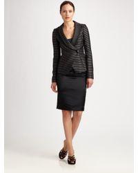 Armani Stripe Shawl Collar Jacket - Lyst