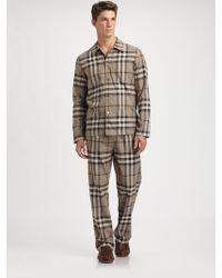Burberry - Check Pajama Set - Lyst