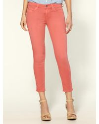 7 For All Mankind Cropped Skinny Jeans - Lyst