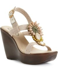 Callisto Caliente Wedge Sandals - Lyst
