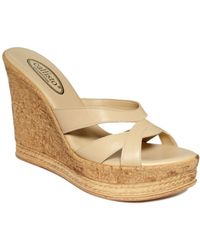 Callisto Esther Wedge Sandals - Lyst