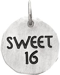 Eci Sterling Silver Sweet 16 Charm - Metallic