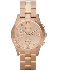 Marc By Marc Jacobs Women'S Chronograph Henry Rose Gold Ion Plated Bracelet Mbm3074 - Lyst