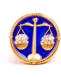Rachel Roy Gold Tone Libra Ring - Blue