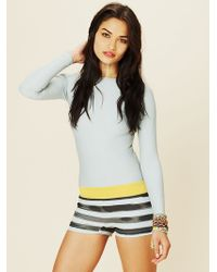 Free People Long Sleeve One Piece Surf Suit - Lyst