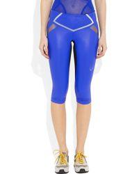 Lucas Hugh Flash Lightweight Stretch Capri Leggings - Blue