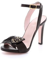 RED Valentino Studded Bow Sandals - Lyst