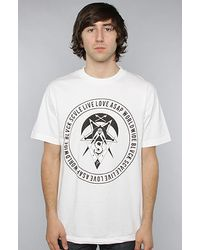 Black Scale World Wide Tee in White - Lyst