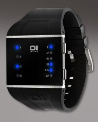 01 The One Watches - Slim Square Binary Watch - Lyst