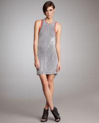Alexander Wang Contour-striped Tank Dress - Lyst