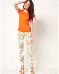 Citizens of Humanity Citizens Of Humanity Mandy Relaxed Roll Up Jeans in Rose Print - Lyst