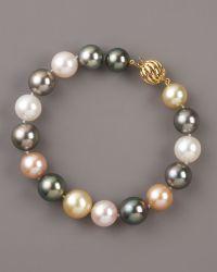 Assael - Mixed-pearl Bracelet - Lyst