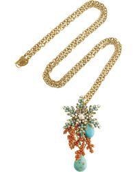 Bijoux Heart - 24karat Goldplated Swarovski Crystal Necklace - Lyst