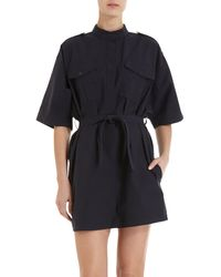 Boy by Band of Outsiders Short Sleeve Dress - Lyst
