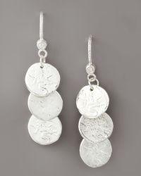Dominique Cohen - Short Coin Drop Earrings - Lyst