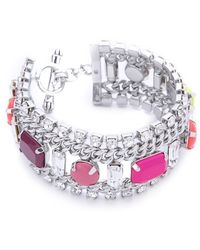 Juicy Couture - Multi Layer Gem Bracelet - Lyst