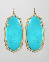 Kendra Scott Danielle Earrings blue - Lyst