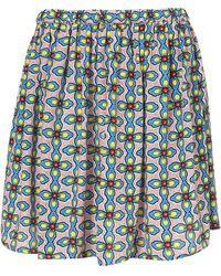 Topshop Cherry Blossom Skirt - Lyst