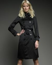 Burberry Brit - Sateen Trench Coat - Lyst