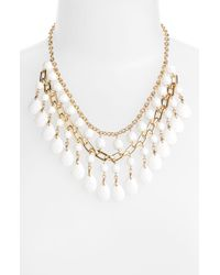 Cara Accessories Statement Necklace gold - Lyst