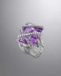 David Yurman Cable Wrap Ring Lavender Amethyst - Metallic