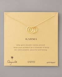 Dogeared Three-Ring Karma Necklace - Lyst