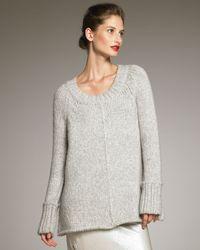 Donna Karan New York Alpaca Knit Sweater - Lyst