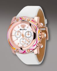 Glam Rock 46mm Smalto Chronograph Watch Pink - White