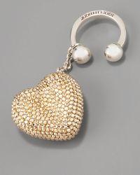 Judith Leiber - Heart N Soul Key Ring, Champagne - Lyst