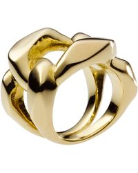 Michael Kors Chain Ring - Metallic