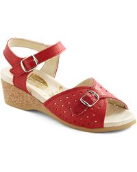 ModCloth View Of The Sea Sandal in Red - Lyst