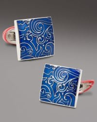 Robert Graham - Square Paisley Cuff Links, Blue - Lyst