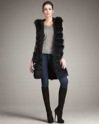 Tasha Tarno - Long Hooded Fox Vest - Lyst