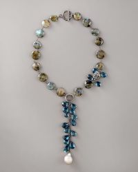 Wendy Brigode - Labradorite & Topaz Necklace - Lyst