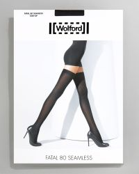Wolford Fatal 80 Seamless Stay-up Stockings - Lyst