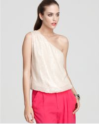 Ash - Alice Olivia Top Sasha One Shoulder Sequin - Lyst