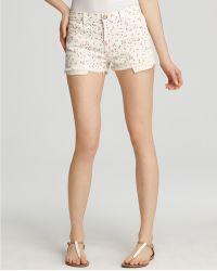 Ash - Currentelliott Shorts Floral Printed Boyfriend in Sweet Cream Ditsy Wash - Lyst