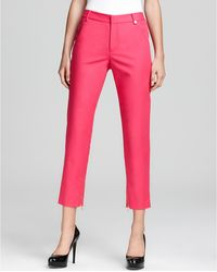 Calvin Klein Cropped Trousers - Lyst