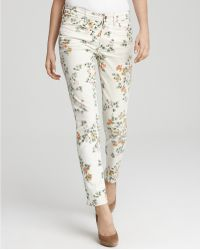 Citizens of Humanity Mandy Floral Print High Waist Roll Up Jeans  - Lyst