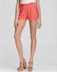 Free People  Lace Scallop Shorts - White