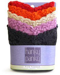 Hanky Panky 5 Pack Signature Lace Original Rise Thong - Lyst