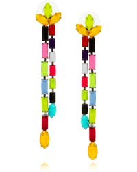 Tom Binns - Dot Dash Swarovski Crystal Drop Earrings - Lyst