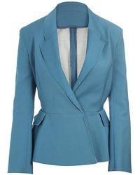 Acne Studios Turner Raw Structured Woolcotton Blazer blue - Lyst