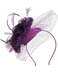 Alexon - Purple Feather and Flow Fascinator - Lyst