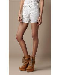 Burberry Brit - Classic Denim Shorts - Lyst