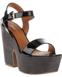 Emporio Armani Wedge Sandal - Lyst