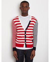 General Idea General Idea Mens Striped Cardigan - Lyst