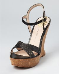 House Of Harlow 1960 Wedges Pat - Lyst