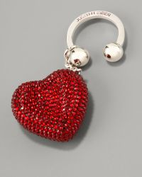 Judith Leiber - Heart N Soul Key Ring, Red - Lyst