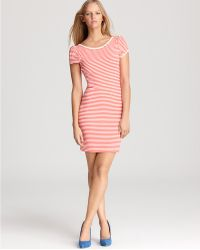 Juicy Couture Puff Sleeve Stripe Ponte Dress - Lyst